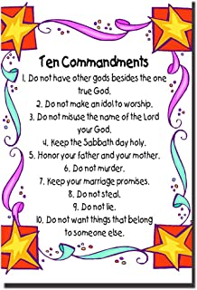 10 Commandments for Kids Quotes Poster 20x30 Inch Art Print Modern Wall Decor Home Room Office Hotel Classroom Decoration