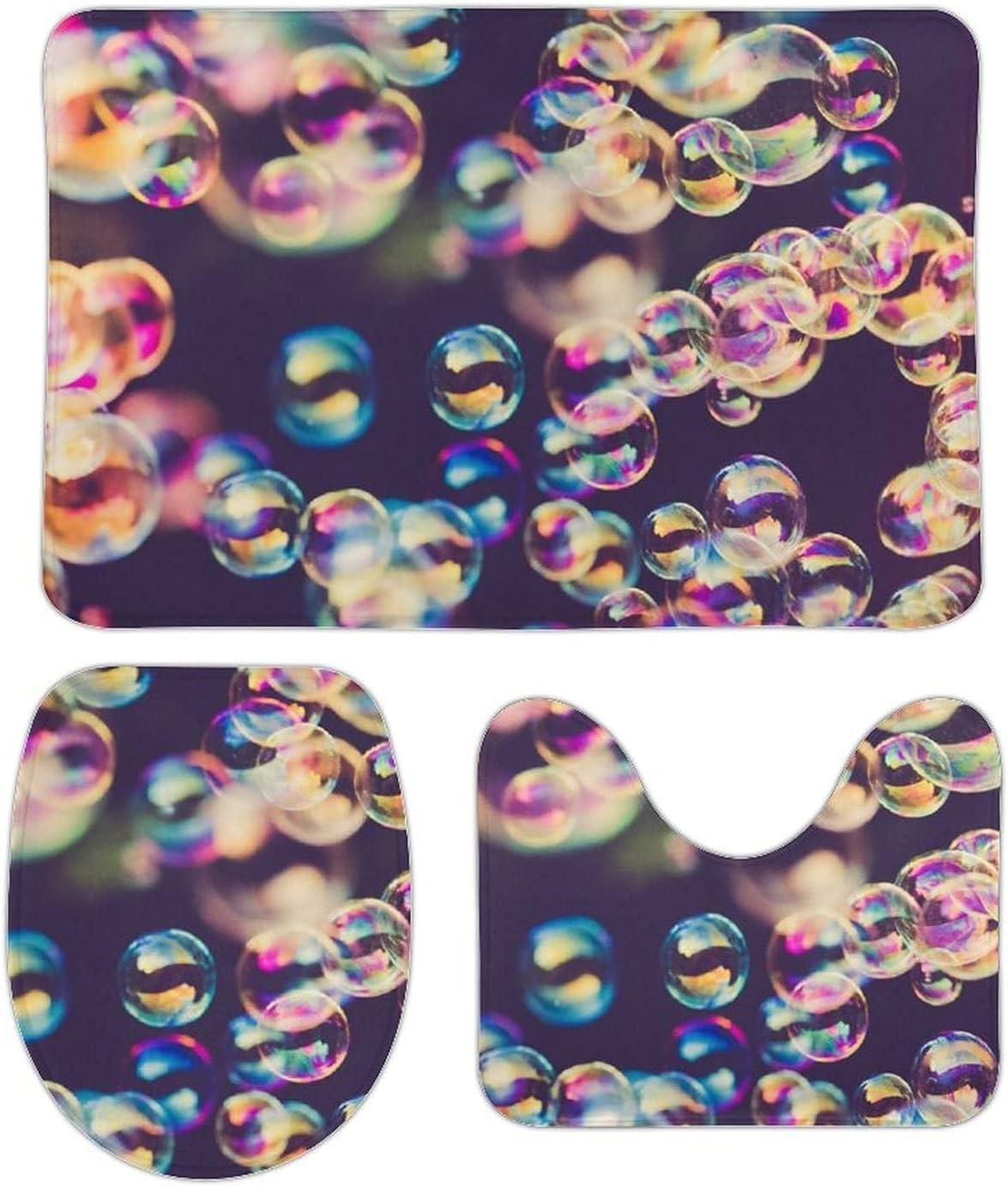 Bath Rug Set of 3 Bubble Pattern Pieces Sales for sale Se Customed Sale price Mats