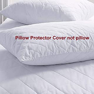 "coca industries Satin 250 TC Pillow Cover (White_18""x28"")"