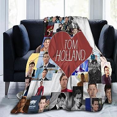 Gadimen Tom Holland Throw Blanket, Super Soft Lightweight Flannel Fleece Blankets for Bed Couch Sofa, All Season Warm Cozy Fu
