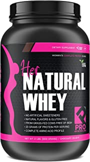 Best Her Natural Whey Protein Powder for Women - Supports Weight Loss & Lean Muscle Mass - Low Carb - Gluten Free - Grass Fed & rBGH Hormone Free (Chocolate Delight, 2 lb) Review