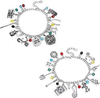 2PCS Stranger Things Charm Bracelet Friendship Bracelets Movie Fan Horror Show Inspired Christmas Halloween Cosplay Eleven...