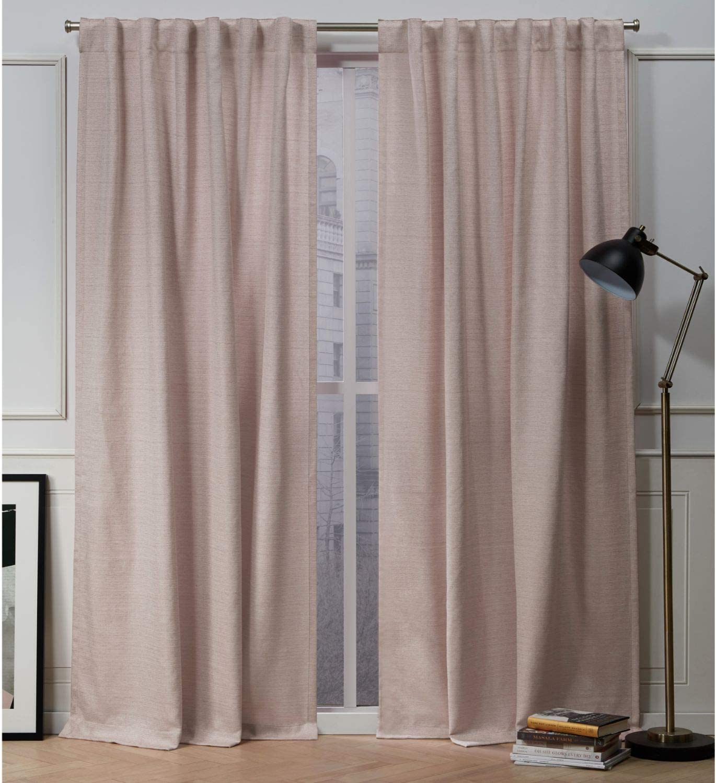 Nicole Miller Mellow Slub Hidden Brand Direct store Cheap Sale Venue Tab 5 Panel Top Blush Curtain