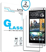 KATIN HTC ONE M7 Screen Protector - [2-Pack] 9H Hardness Tempered Glass for HTC One M7 Bubble Free with Lifetime Replacement Warranty