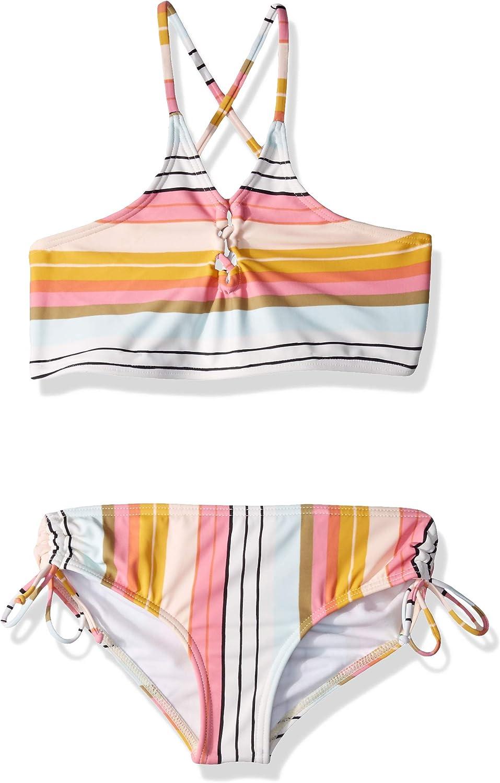 Billabong Girls' Big Sunny Award-winning store Inexpensive Song Hi Piece Neck Set Swim Two