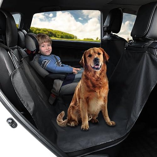 GHB Cubierta Universal Protector Impermeable de Tapicería de Coche para Perros Mascotas y Viajes con Hebilla