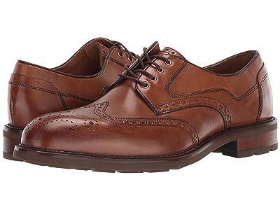 J&M EST. 1850 Fullerton Wing Tip (Cognac) Men