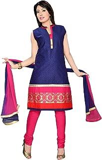 Darshi Fashion Women Cotton A-Line salwar suits, (dn1794, Royal Blue, 38)