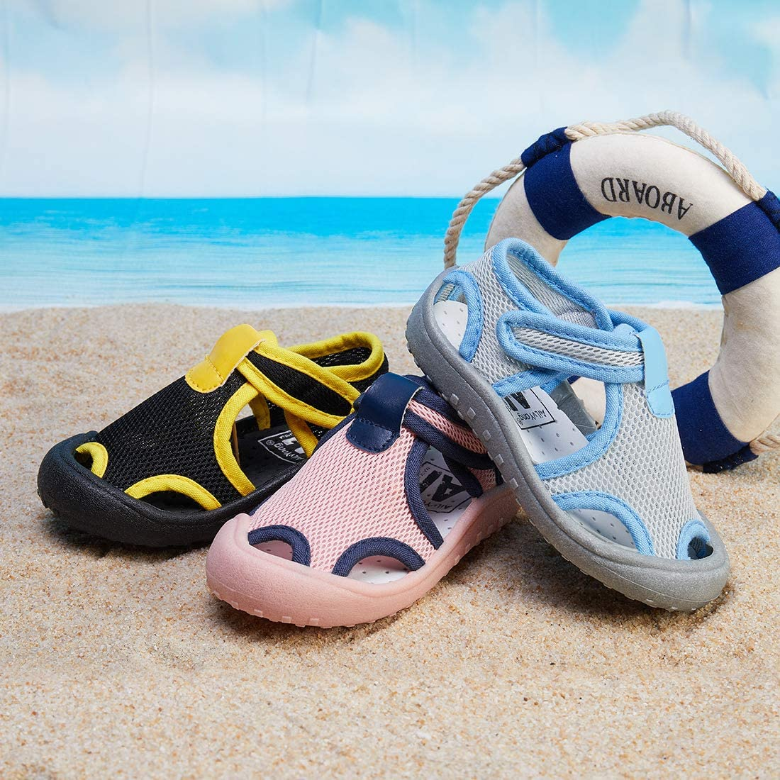 Qtolo Toddler Sandals Boys/Girls Quick Dry Sport Beach Water shoes