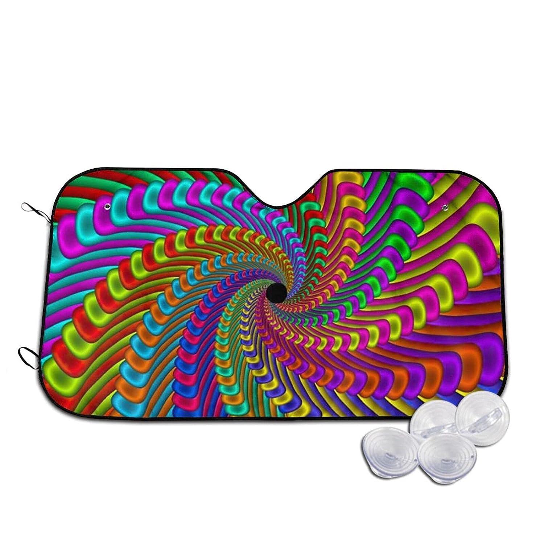 HUANGJ favorite Colorful Special sale item Candy Color Rainbow Visor Sun Stripes Swirl Car