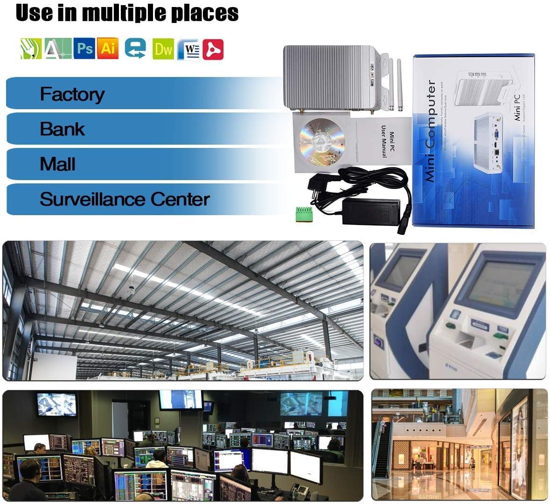 RS232//485 COM Double LAN Bluetooth 8G RAM 512G SSD PC Industriel Intel Celeron J1900 BASOARO PC de Bureau sans Ventilateur VGA//HDMI WiFi