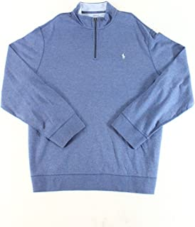 RALPH LAUREN Polo Men's Cotton-Blend Half-Zip Pullover...
