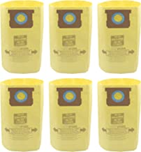 Wet Dry Vac Dust Collection Bags Compatible with Shop-Vac 10-14 Gallon (6 Pack 10-14 Gallon Fine Dust)