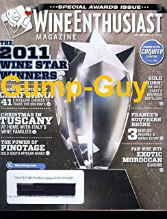 WINE ENTHUSIAST magazine December 15 2011 Special AWARDS Issue Star WINNERS coquito Dec