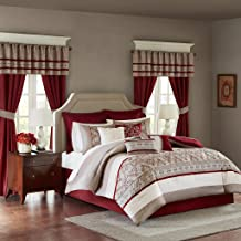 Madison Park MPE10-234 Essentials Jelena Room in a Bag Cal King Red