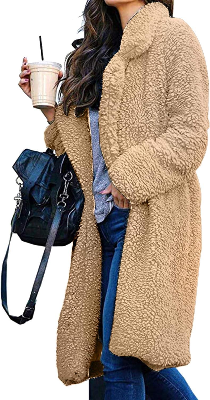 OMZIN Women Classic Duffle Coat Hooded Winter Casual Outerwear Fleece Pockets