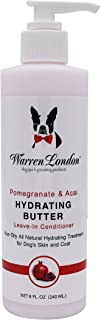 Warren London Hydrating Butter - Dog Leave in Conditioners & Balms for Skin, Coat, Nose, Paw - Made in USA