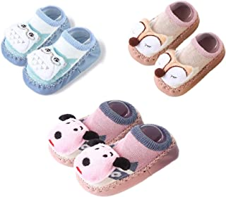 Clastik Baby 1 Pair (0-9) Months, Anti Slip Socks Cum Booties with Rubber Sole (Baby Boys)- Assorted Colors and Designs for Baby Boys
