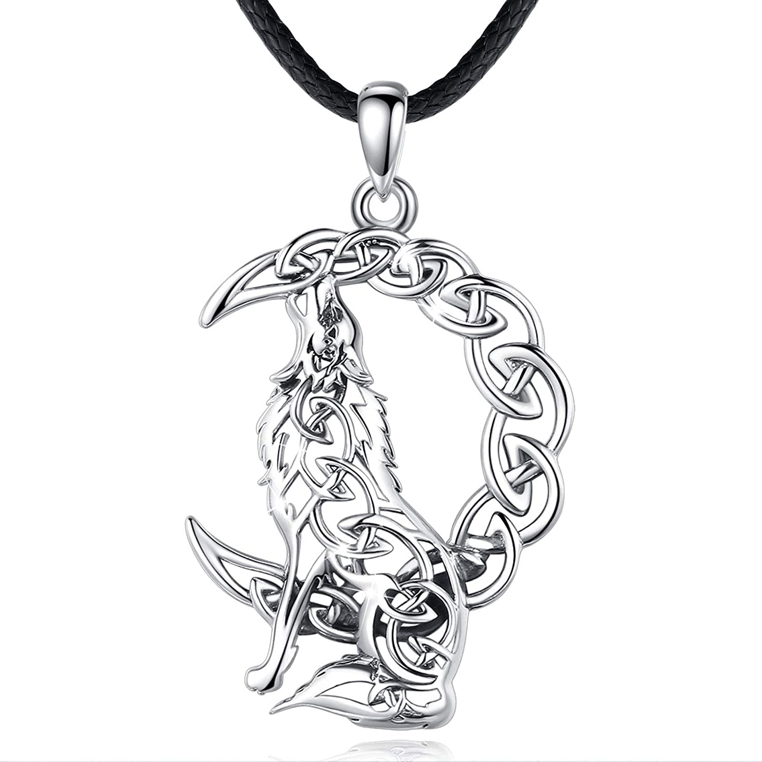 EUDORA Dealing full price reduction Celtic Wolf Necklace for Silver Sterling Man Spi Austin Mall Women