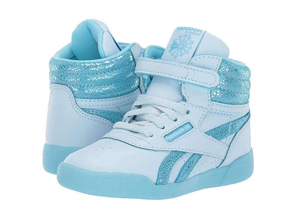 Reebok Kids Freestyle Hi (Toddler) (Dreamy Blue/Digital Blue) Girls Shoes