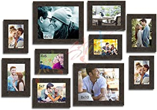 Art Street Enchantment Set of 10 Individual Photo Frame/Wall Hanging for Home Décor - Copper