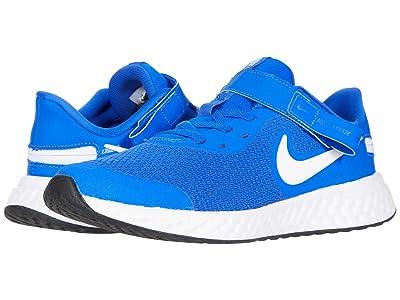 Nike Kids Flyease Revolution 5 (Big Kid) (Racer Blue/White/Black) Kids Shoes