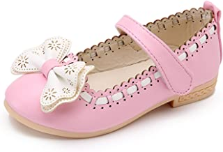 Spring Princess Kids Shoes Girls Shoes Korean Style Cute Bowknot Soft Sole Flat PU Leather Children Shoes Girls Dress Shoes