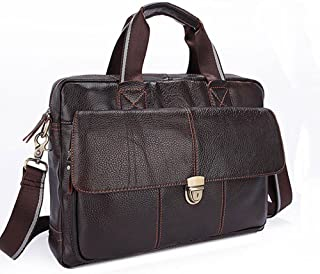 "Men's Accessories 13"" Laptop Notebook Tablet,Business Men's Leather Briefcase Messenger Crossbody Shoulder Handbag Bag for Outdoor Recreation (Color : Brown)"