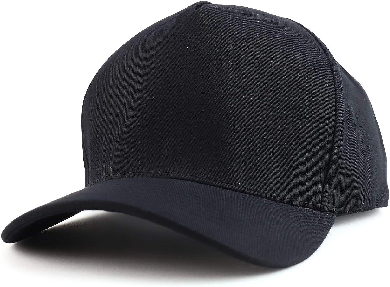 Trendy Apparel Shop Oversized Big 5 Panel Cotton Structured Baseball Cap