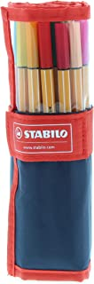 Fineliner - STABILO point 88 Rollerset of 25 Assorted Colours