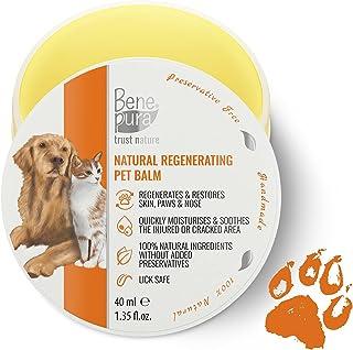 100% Naturlig Regenererande Sällskapsdjurbalsam - För Tassar, Näsa och Hud - för Hundar, Katter och andra Husdjur 1,35 fl....