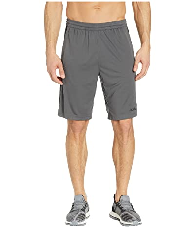 adidas D2M 3-Stripe Shorts (Grey Six/White) Men