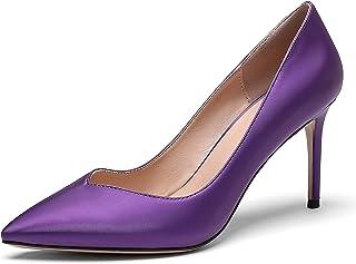 elashe Escarpins Femme - 3.14 inch Chaussures à Talons Hauts -Bout Pointu fermé - Classique Bureau Soiree