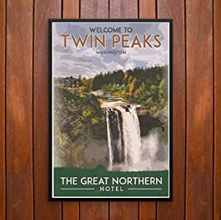 Twin Peaks Vintage Travel Poster, The Great Northern Hotel, Poster or Framed Print