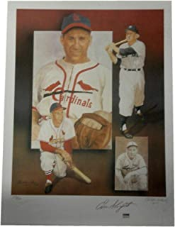 Signed Enos Slaughter Photo - 18x24 Poster Print Dirty Stain - Autographed MLB Photos