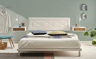 comprar comparacion HOGAR24 ES Cabecero tapizado R55, válido para Cama 135,140 y 150 cm, Color Blanco. Medidas; 155 cm x 55 cm x 3cm