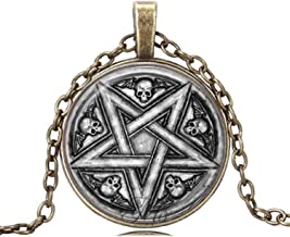 Gemingo All New Inverted Baphomet Pentacles Necklace Sugar Skull Necklace Occult Jewelry For Women