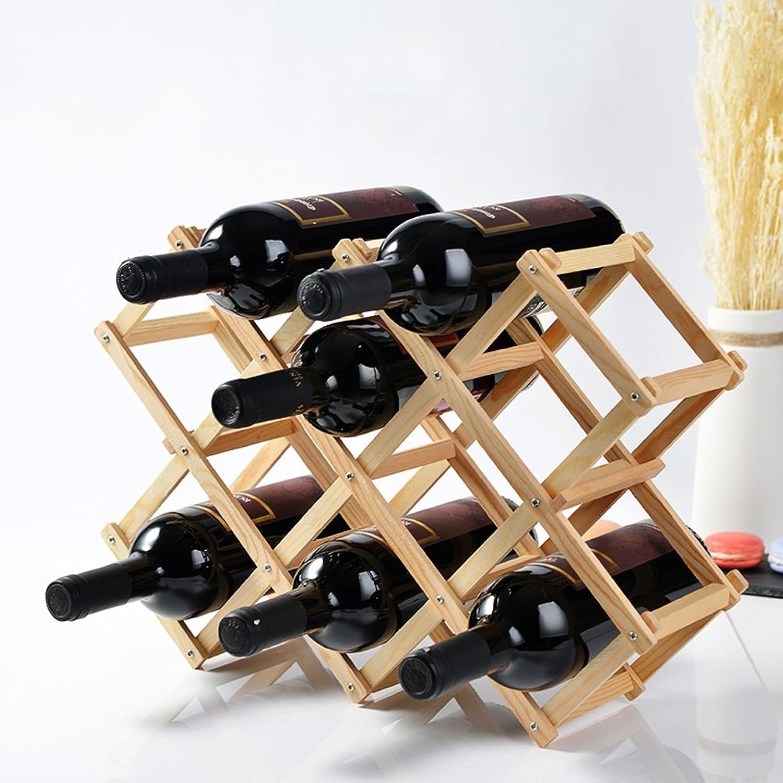 WAN SAN QIAN- Wood Creative Fold Wine Racks More Bottled Wine Bottle Holder Decorated Bar Wine rack ( Size   Xl )