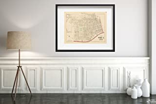 Map|Atlas Rochester, NY, Rochester 1875 Plate 018|Vintage Fine Art Reproduction|Size: 18x24|Ready to Frame