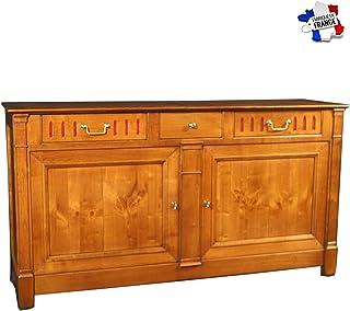 GONTIER Aparador de 2 puertas de madera maciza – 100% fabricado en Francia