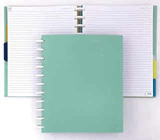 Talia Discbound Notebook, Sage Green, Letter
