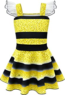 Thombase Girls Kids Dance Ballet Tutu Dress Costumes Halloween Cosplay Dress up Party Clothes