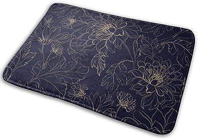 """Chrysanthemums Doormat Non Slip Indoor/Outdoor Door Mat Floor Mat Home Decor, Entrance Rug Rubber Backing Large 23.6""""(L) x 15.8""""(W)"""