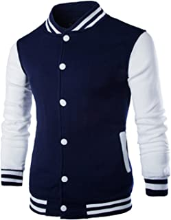 Thadensama New Men/Boy Baseball Jacket Men Design Wine Red Mens Slim Fit College Varsity Jacket Men Stylish Veste M-XXL