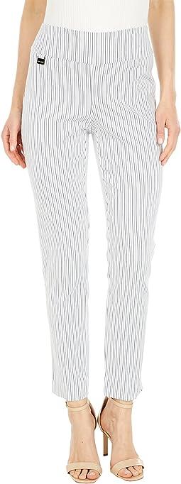 Ronda Stripe Print 28'' Slim Ankle Pants