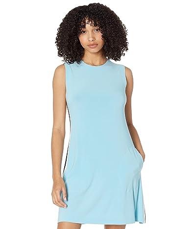 KAMALIKULTURE by Norma Kamali Side Stripe Sleeveless Swing Dress