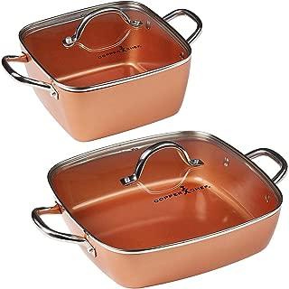 Copper Chef 4-Piece Deep Casserole Pan Set (8