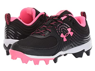 Under Armour Kids Glyde RM Softball (Toddler/Little Kid/Big Kid) (Black/Cerise) Kids Shoes