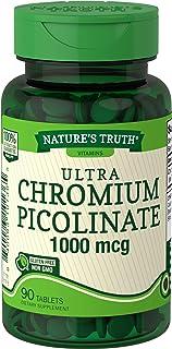 Nature's Truth Chromium Picolinate 1000 mcg Dietary Supplement, 90 Count