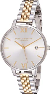 Olivia Burton Womens Quartz Watch, Analog Display and Stainless Steel Strap OB16DE05